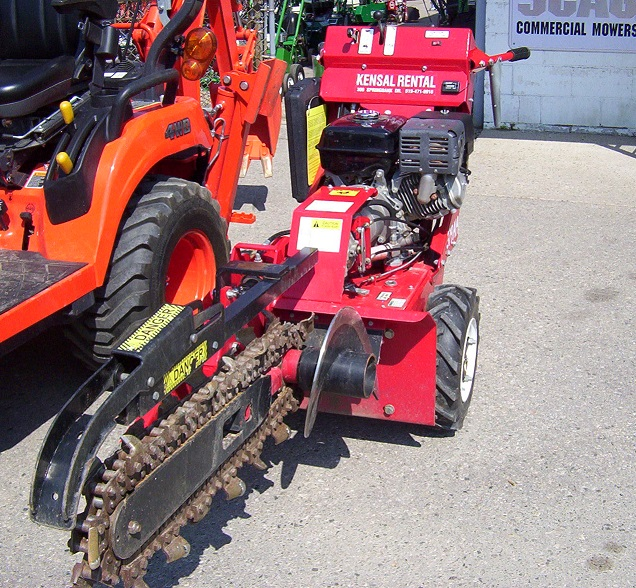 "2' x 4"" Trencher - Self Propelled Width-29"", Weight-620 lbs."