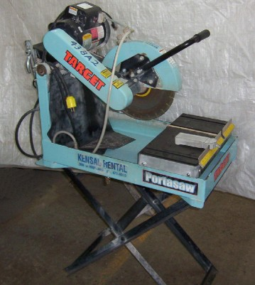 "Brick/Block Saw (includes Diamond Blade) ( up to 5"" brick )"